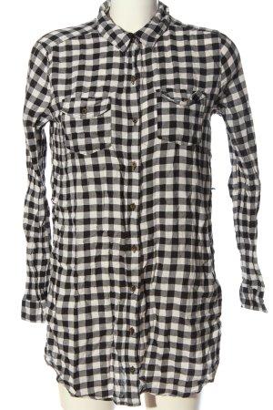 Forever 21 Holzfällerhemd schwarz-weiß Karomuster Casual-Look