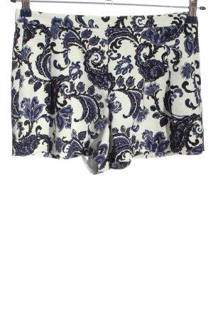Forever 21 Krótkie szorty biały-niebieski Na całej powierzchni W stylu casual