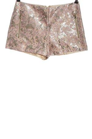 Forever 21 Hot Pants pink-blassgelb abstraktes Muster Casual-Look