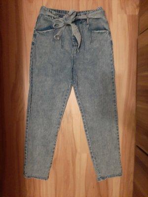Forever 21 Jeansy z wysokim stanem jasnoniebieski