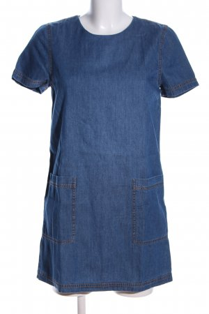 Forever 21 Robe en jean bleu moucheté style décontracté