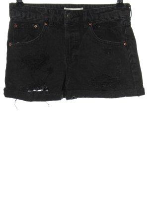 Forever 21 Pantaloncino di jeans nero stile casual