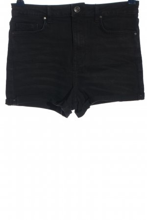 Forever 21 Pantalón corto de tela vaquera negro look casual