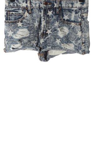 Forever 21 Short en jean bleu-gris clair imprimé allover style décontracté