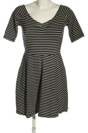 Forever 21 Jerseykleid schwarz-weiß Streifenmuster Casual-Look