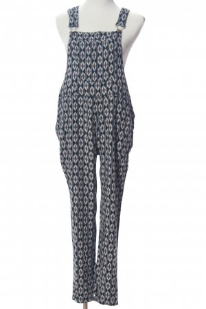 Forever 21 Jumpsuit blue-white allover print casual look