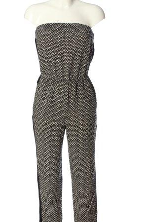 Forever 21 Jumpsuit schwarz-creme Allover-Druck Casual-Look