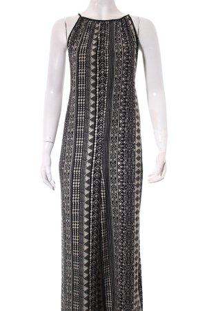 Forever 21 Jumpsuit schwarz-hellbeige abstraktes Muster