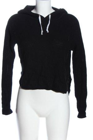 Forever 21 Kapuzenpullover schwarz-weiß Casual-Look
