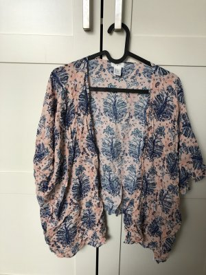 Forever 21 Kimono bleu acier-rose clair