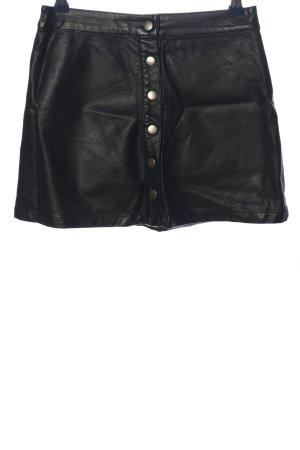 Forever 21 Falda de cuero de imitación negro look casual