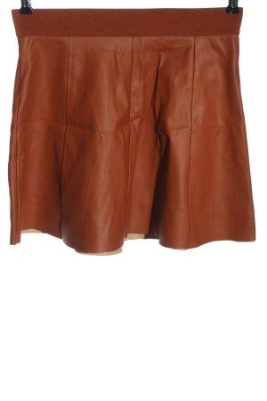 Forever 21 Jupe en cuir synthétique brun style décontracté