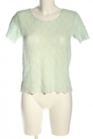 Forever 21 Kurzarm-Bluse türkis grafisches Muster Casual-Look