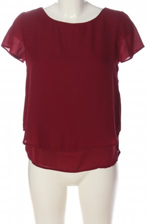 Forever 21 Kurzarm-Bluse rot Casual-Look