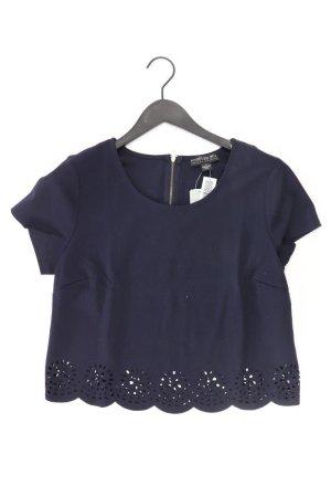 Forever 21 Short Sleeved Blouse blue-neon blue-dark blue-azure polyester