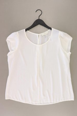 forever 21 Kurzarmbluse Größe XL weiß aus Polyester