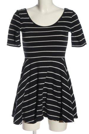 Forever 21 Kurzarmkleid schwarz-weiß Streifenmuster Casual-Look