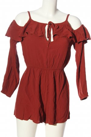 Forever 21 Kurzer Jumpsuit rot Casual-Look