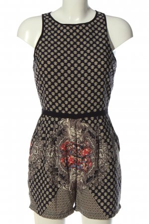 Forever 21 Kurzer Jumpsuit black-natural white themed print casual look