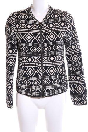 Forever 21 Kurzjacke schwarz-weiß grafisches Muster Casual-Look