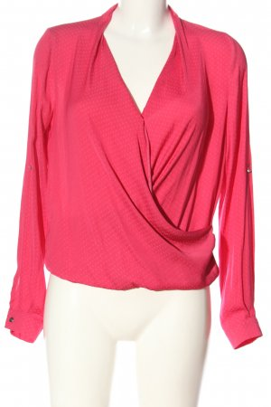 Forever 21 Langarm-Bluse pink Allover-Druck Casual-Look