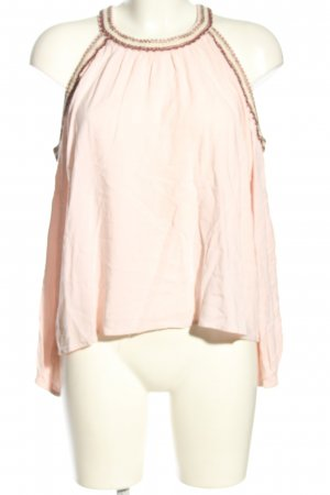 Forever 21 Langarm-Bluse pink-braun Casual-Look