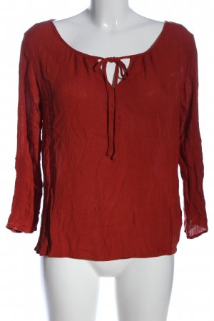 Forever 21 Langarm-Bluse rot Business-Look