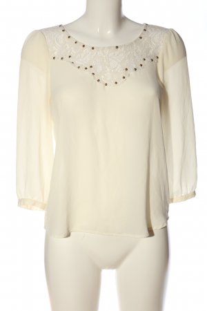 Forever 21 Langarm-Bluse creme Casual-Look