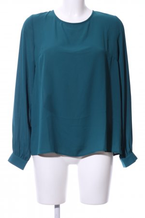 Forever 21 Langarm-Bluse blau Business-Look
