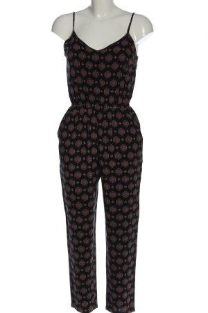 Forever 21 Langer Jumpsuit black-light grey abstract pattern elegant
