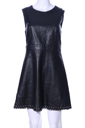 Forever 21 Leren jurk zwart casual uitstraling