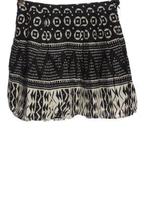 Forever 21 Linen Skirt black-white allover print casual look