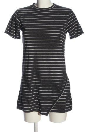 Forever 21 Longshirt schwarz-weiß Allover-Druck Casual-Look