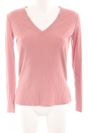 Forever 21 Longsleeve pink Streifenmuster Casual-Look