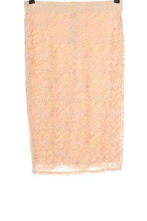 Forever 21 Spódnica midi nude Graficzny wzór W stylu casual