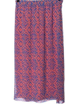 Forever 21 Spódnica midi niebieski-jasny pomarańczowy Na całej powierzchni