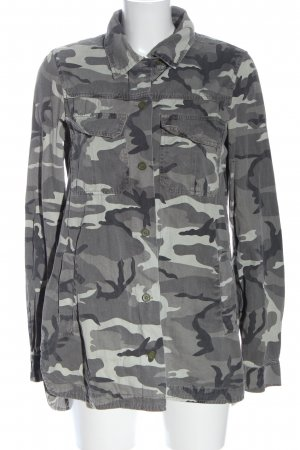 Forever 21 Militair jack lichtgrijs camouflageprint casual uitstraling