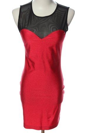 Forever 21 Minikleid rot-schwarz Elegant