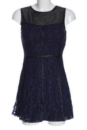 Forever 21 Robe courte bleu-noir imprimé allover élégant