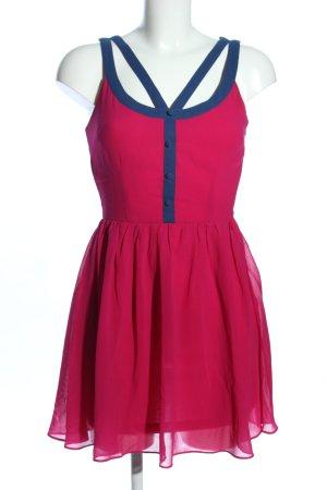 Forever 21 Minikleid pink-blau Casual-Look