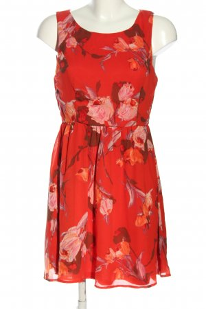 Forever 21 Minikleid rot-wollweiß Allover-Druck Casual-Look