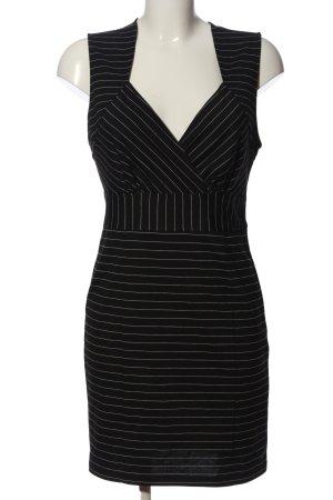 Forever 21 Minikleid schwarz-weiß Streifenmuster Business-Look