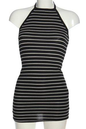 Forever 21 Minikleid schwarz-weiß Streifenmuster Casual-Look