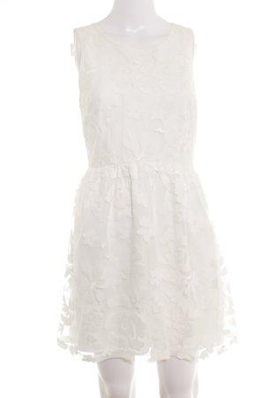 Forever 21 Minikleid weiß Textil-Applikation