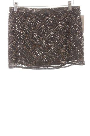 Forever 21 Minirock schwarz-bronzefarben abstraktes Muster Party-Look