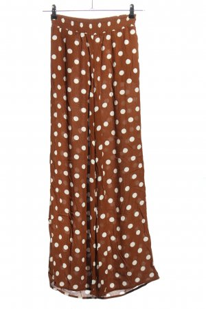 Forever 21 Pallazzohose braun-weiß Punktemuster Casual-Look