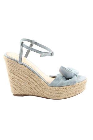 Forever 21 Plateau-Sandalen blau-creme Casual-Look
