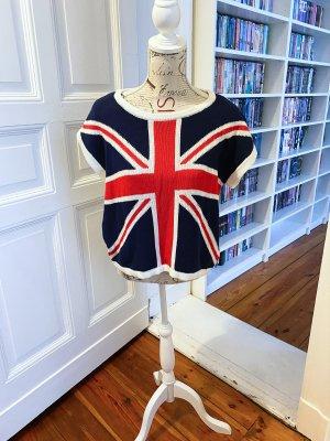 Forever 21 Pullover Pullunder S England Britische Flagge Baumwolle