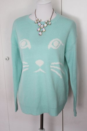 Forever 21 Crochet Sweater multicolored