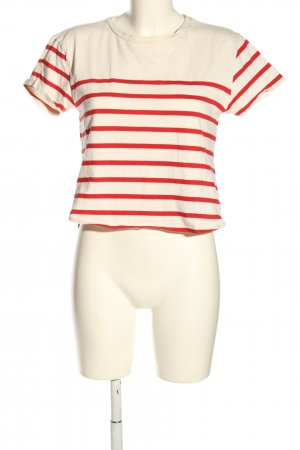 Forever 21 Ringelshirt wollweiß-rot Streifenmuster Casual-Look